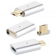 Callstel Magnetischer Micro-USB-Adapter für Lade- und Datenkabel, 3er-Set