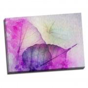 Tablou modern cu frunze violet