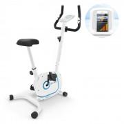 KLARFIT Myon Cycle, szobakerékpár, 12kg lendkerék, SmartCardio Studio, fehér (FIT4-MYON CYCLE)