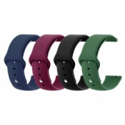 Set 4 curele universale din silicon 20mm Samsung Gear S2 Classic Watch Active Watch 42mm Huawei Watch 2/ 2 Pro 1
