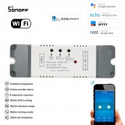 Smart 2 kanálový inteligentný WiFi switch 85V-250V AC (eWelink)