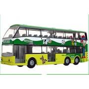 Childrens Toy Car Alloy Double Decker Bus Model , Dairy Farm Version