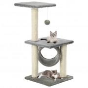 vidaXL Arbre à chat avec griffoirs en sisal 65 cm Gris