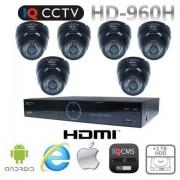 Bezpečnostný systém 960H s 6x dome kamery s 20m IR + DVR s 1TB