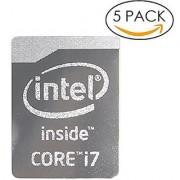 5x Original 4th Gen. Metallic Edition Intel Core i7 Inside Sticker 16mm x 21mm with Authentic Hologram