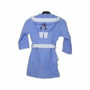 """Детски халат с ушички """"Blue Bunny"""" - 100% Памук"""