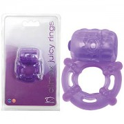 Climax Juicy Rings Purple Vibrating Cock Ring
