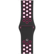 Curea Smartwatch Apple Nike Sport Band pentru Apple Watch 44mm (Negru/Roz)