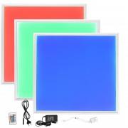 [lux.pro]® Panel LED ultradelgado RGB - 62x62 cm - Foco para colgar / montar - 16 W - luz regulable de colores