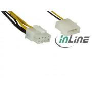InLine 26630 Molex -> 8pin táp átalakító 28cm