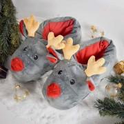 Mikamax Kerst Pantoffels - Rendier sloffen