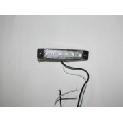 Lampa laterala 6 LED-uri, 12V, lumina alba