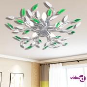 vidaXL Stropna lampa s bijelim kristalima u obliku lišća od akrila za 5 E 14