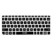 CM Ultra Thin Silicone Soft Keyboard Cover Skin Compatible with Logitech Wireless Touch Keyboard K400 Plus (Not for Old Version K400 & K400r) (Black)
