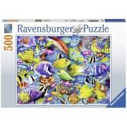 Puzzle Pesti Tropicali, 500 Piese Ravensburger