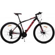 "Bicicleta mountainbike Omega Thomas, Model 2018, Roti 27.5"" (Negru/Rosu)"