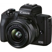 Canon - EOS M50 Mark II Mirrorless Camera with EF-M 15-45mm f/3.5-6.3 IS STM Zoom Lens - Black