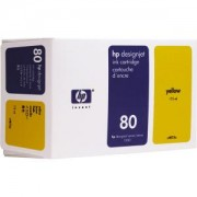 HP 80 ( C4848A ) Kасета цветна No.80, 350ml (DesignJet 1050/1055CM), Yellow