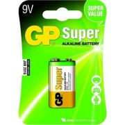 Алкална батерия GP SUPER 6LF22, 6LR61, 9V, 1 бр. блистер, 1604A