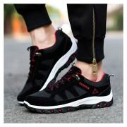 Zapatos De Deportes De Los Hombres Estilo Coreano Zapatos Casuales Moda Respirable-Negro