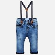 Jeans baiat cu bretele Mayoral