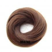 Příčesek - drdol na gumičce střapatý (M 4/30 (mix čokoládově hnědá/světlý kaštan)) - Světové Zboží