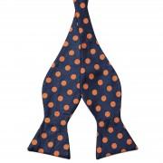 Tailor Toki Noeud Papillon Soie Motif Pois Oranges