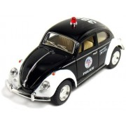 5 Classic Volkswage 1967 Beetle Police car 1:32 Scale (Black/White)