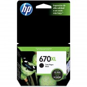 Cartucho Original de Tinta HP 670XL-Negro
