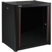 """19"""" комуникационен шкаф MIRSAN MR.WTN07U45.01, 600 x 450 x 423 мм, D=450 мм / 7U, черен, за стена"""