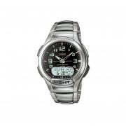 Reloj Casio World Time Clásico AQ-180WD-1B Para Caballero- Plateado