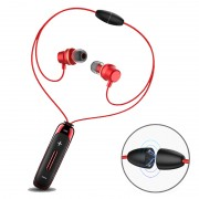 BT315 Sport Bluetooth Headset In-ear Wireless Earphone Stereo Magnetic Necklace Earpiece with Mic - Red