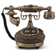 Teléfono Fijo Antiguo Estilo Retro Resina Sobremesa Oficina