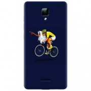 Husa silicon pentru Allview P5 Energy ET Riding Bike Funny Illustration