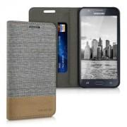 kwmobile Flipové pouzdro pro Samsung Galaxy J5 - šedá
