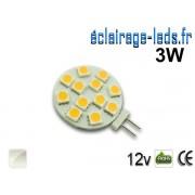 Ampoule led G4 12 led SMD 5050 blanc naturel 12v ref g4-03