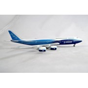 Hogan Boeing House 747-8 Intercontinental Straight Wings Blue Livery Diecast Airplane Model Scale 1:400 Part# 40106