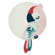 LILIPINSO Tapis coton Perroquet Rose - 160 x 120 cm