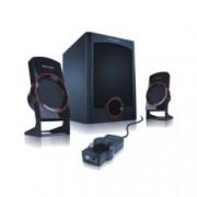 Тонколона Microlab M111, 2.1, 12W, 3,5mm jack stereo, черна, дистанционно управление