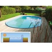 Hobby Pool Toscana fémpalástos medence 4,16 x 8 x 1,2m blue-style peremmel AS-183130