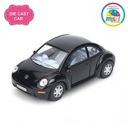 Smiles Creation Kinsmart 1:32 Scale Volkswagen New Beetle Pull Back and Opens Doors Toy, Green