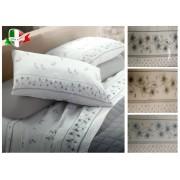Completo Letto matrimoniale FLANELLA Made in Italy cotone antipilling fiori
