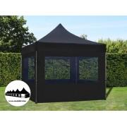 3x3m összecsukható pavilon ablakos Alutec Fekete (Economy)