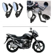 AutoStark 7/8 22cm Motorcycle Rear View Mirrors Handlebar Bar End Mirrors - Suzuki GS 150R