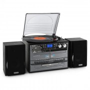Auna MG-TC-386WE стерео HIFI система касетофон грамофонCD плеър USB (MG-TC-386WE)