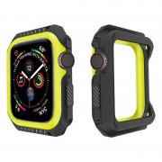 Apple Watch Series 4 Silicone Case - 44mm - Black / Yellow