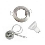 Silamp Kit Spot LED GU10 encastrable avec Ampoule LED 8W - couleur eclairage : Blanc Neutre 4000K - 5500K