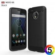 Motorola Moto G5 Удароустойчив Carbon Fiber Калъф и Протектор