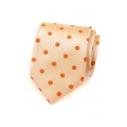Pánská kravata lososová s oranžovým puntíkem Avantgard 559-1561