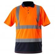 Tricou reflectorizant polo / portocaliu - m
